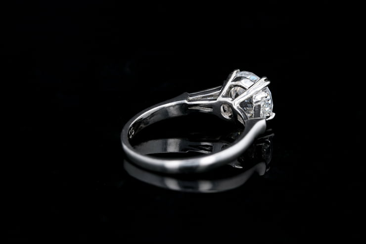 Classic Baguette 3 Stone Ring