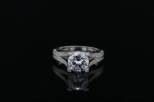 Square Split Shank Pave' Ring