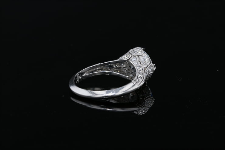 Vintage Pave' Set Milgrain Ring
