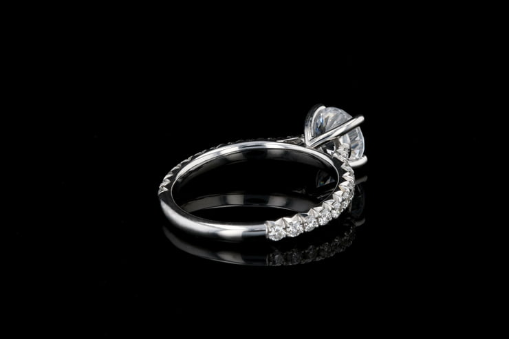 Classic French Pave' Solitaire