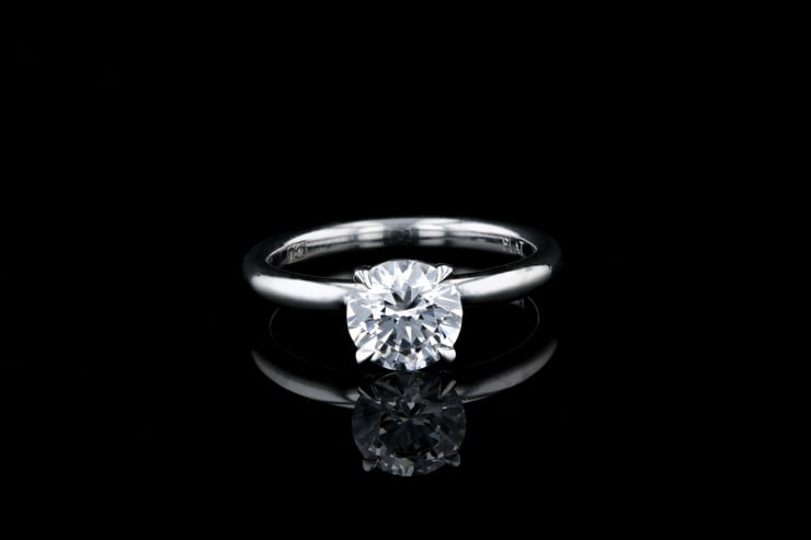 Classic 4 Prong Dome Solitaire
