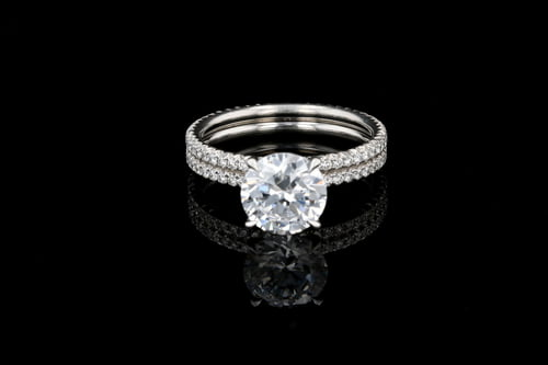 Two Row French Pave' Solitaire