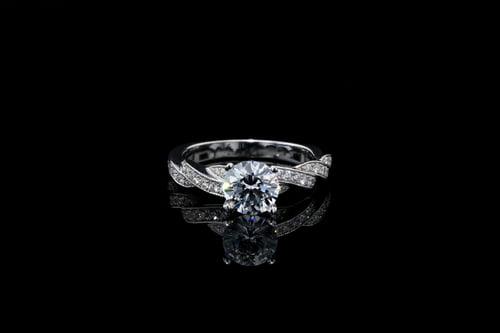 Vintage Woven Pave' Milgrain Ring