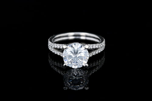 Classic Split Shank Pave' Ring