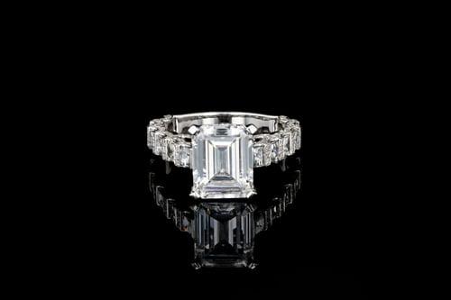 Blaze & Pave' Set Diamond Solitaire