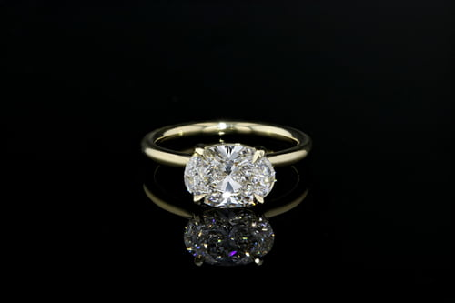 East West Oval Solitaire