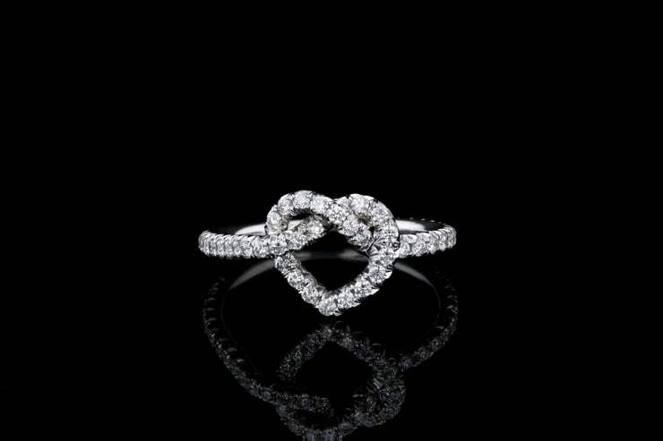 Heart Love Knot Eternity Band