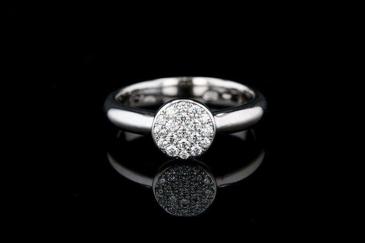 Pave' Diamond Circle Ring