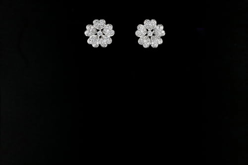 Floral Pave' Earrings