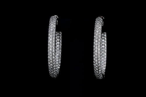 Oval Inside Out Diamond Earrings