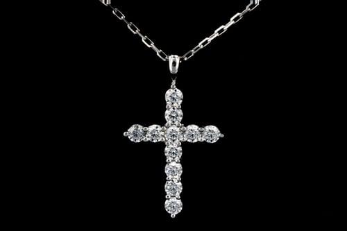 White Gold Medium Diamond Cross