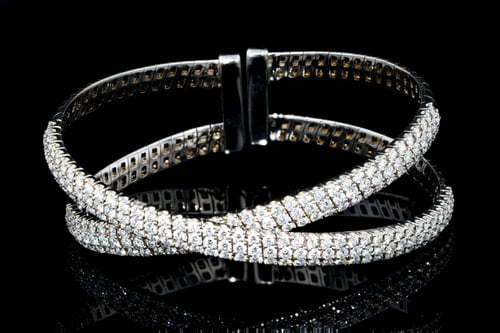 Criss Cross Pave' Diamond Cuff