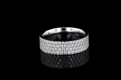 4 Row Pave' Set Eternity Band