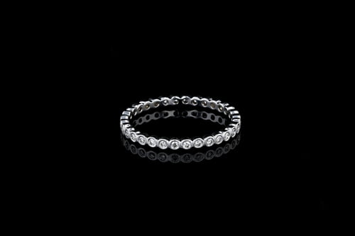 Round Bezel Set Diamond Band