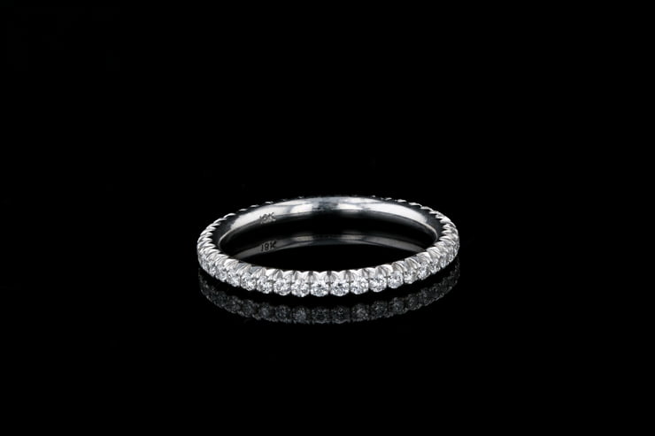 French Pave' Set Diamond Band