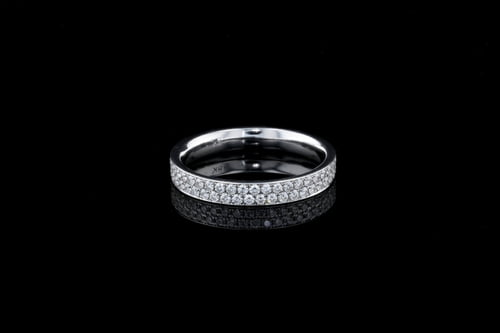 2 Row Pave' Diamond Eternity Band