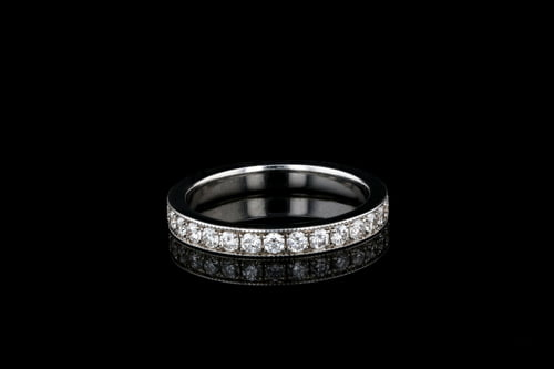 Vintage Style Pave' Diamond Band