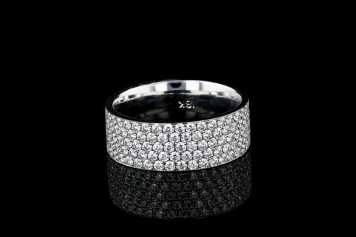 5 Row Pave' Set Diamond Band