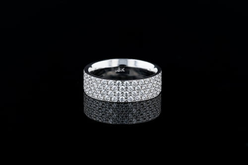 4 Row Pave' Set Diamond Band