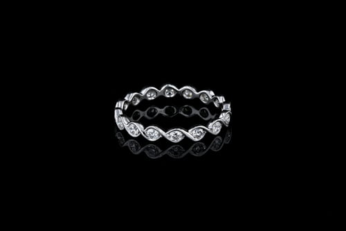 Stackable Diamond Eternity Wedding Band