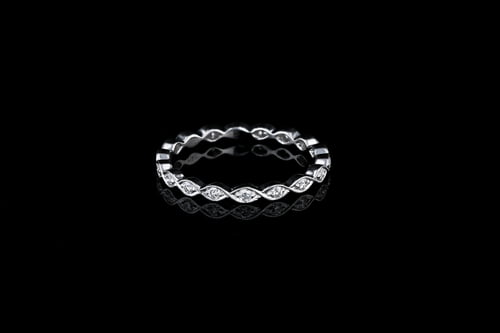 Infinity Pave' Set Diamond Band