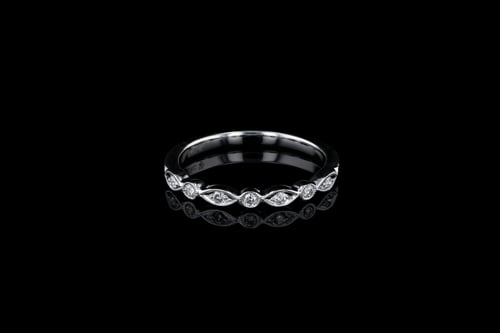 Marquise Shaped Round Diamond Band