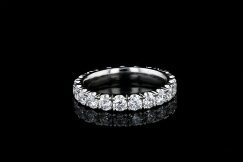 Deep U Set Pave' Diamond Band