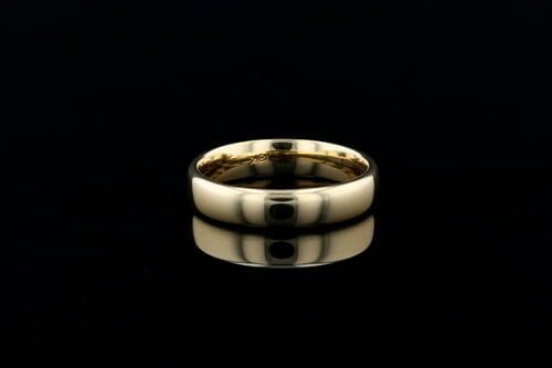 Men's Low Dome Yellow Gold Euro Band