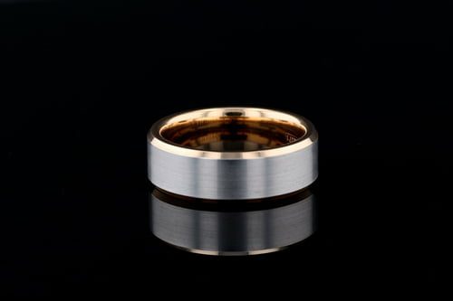 Two Tone Flat Band, Beveled Edges